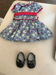 "American Girl 18/"" Doll Emily Retired Meet Outfit Red Socks ONLY"