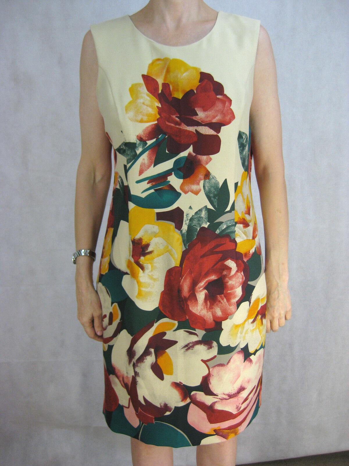 Ellen Tracy Größe 10 12 14 Cream Smart-Casual Shift Dress