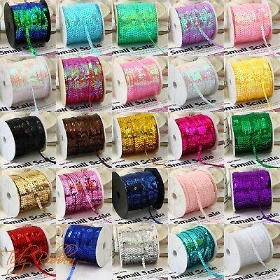 6mm Sequin Trim 1m 2m 5m 10m Round Sequin String Sewing Dance Costume Craft Card