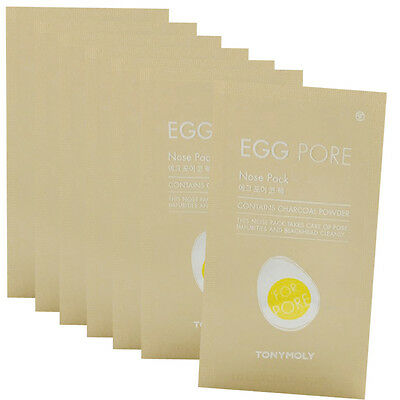 TONYMOLY Egg Pore Nose Pack Package 7 Sheets Free gifts
