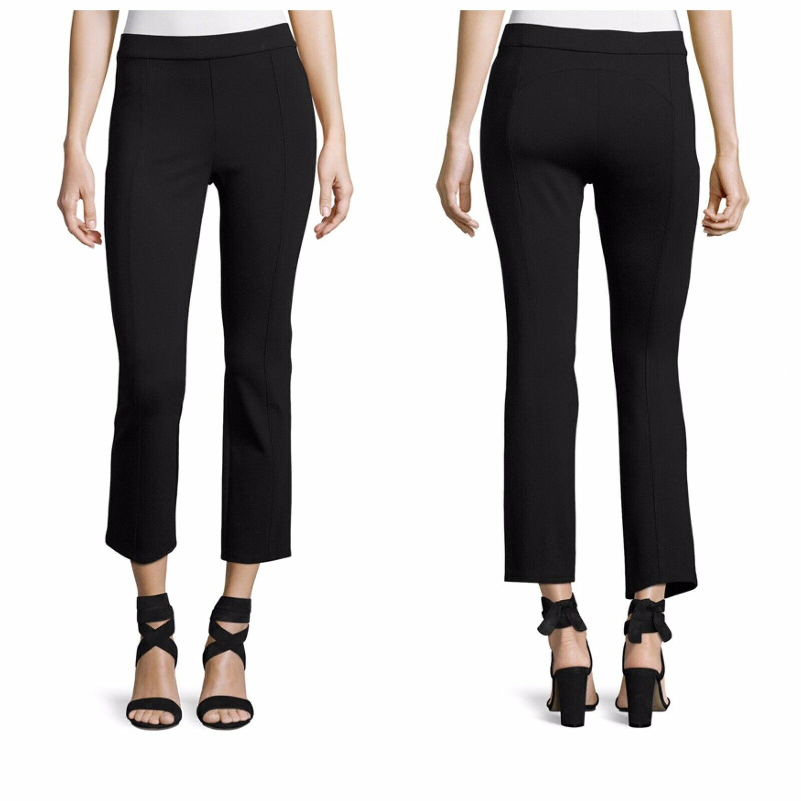NWT Tory Burch Stacey XS schwarz ponte seamed cropped pants Office To Evening  185