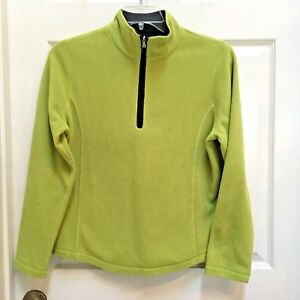 SJB-Active-1-4-Zip-Fleece-Pullover-Green-womens-size-Medium