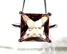 Sterling 925 Silver Filled Size 8 Ring 10*10mm Morganite Gemstone