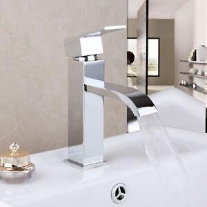 Deck-Mount-Waterfall-Bathroom-Single-Handle-Basin-Mixer-Tap-Lavatory-Sink-Faucet