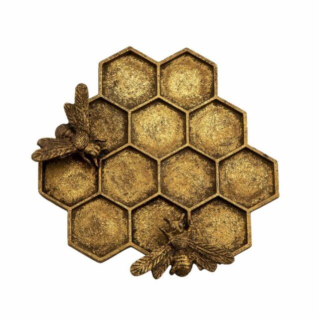 Sass & Belle Gold Honey Bee Hive Jewellery Dish New