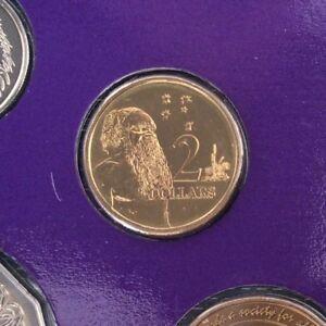 1990 Australia Two $2 Dollar Specimen Coin Ex Mint Set Unc Choice Gem
