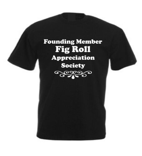 FIG ROLL APPRECIATION SOCIETY T-SHIRT Christmas Birthday Present Idea Biscuit