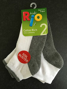 BNWT Boys Perfect Sports Brand Ankle Socks Pack of 5 Size 9-12 Age 5-8 Years