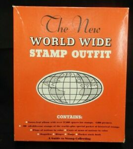 THE-NEW-WORLD-WIDE-STAMP-OUTFIT-ALBUM-1970-MINKUS-BOX-GUIDE-TO-STAMP-COLLECTING