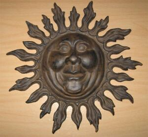 Blazing-Sun-Wall-Plaque-Cast-Iron-Rust-Finish