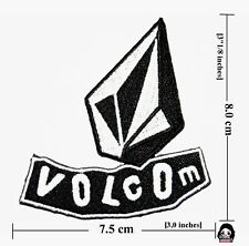 Volcom  Logo Embroidery iron - sewing-patch on fabric