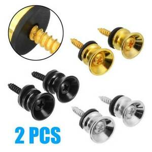 2-Electric-Guitar-Strap-Buttons-Pins-Pegs-For-Acoustic-Bass-Ukulele-Lock-Pins-US