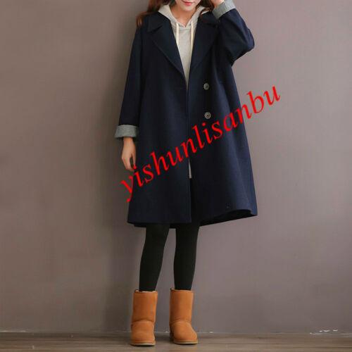 en taille ample des la laine de mélange pour vestes d'hiver femmes femmes Manteau Plus pour qTHw1ta