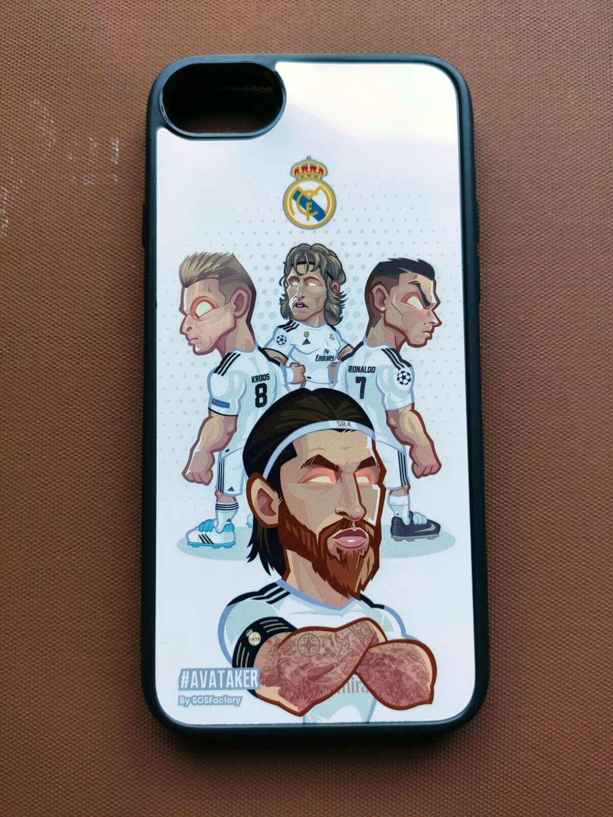Carcasa Iphone 8 Real Madrid: Modric, Ramos, Cristiano Ronaldo, Kroos