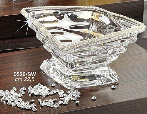 Italian Collection Crystal Square Bowl, décorées avec Swarovski Cristaux