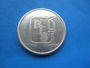 (9C7) B.T.S.  CAR WASH SILVER COLOUR TOKEN COIN