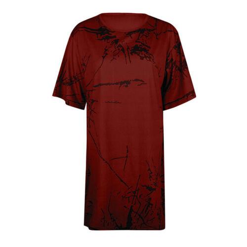 Damen Kurzarm T-Shirts Locker Sommertops Strand Freizeit Blusen Oberteile Tunika