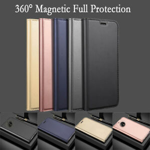 For Motorola G5s G6 Plus PU Leather Flip Wallet Card Magnetic Stand Case Cover