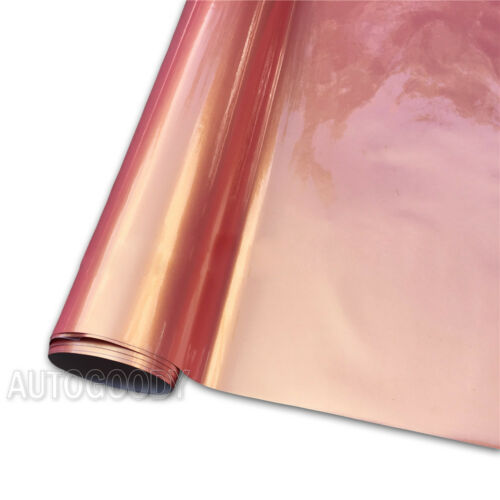 "240/"" x 60/"" Super Gloss Orange Pink Vinyl Film Wrap Air Bubble Free 20ft x 5ft"