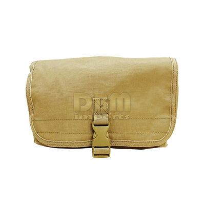 TAN Molle Tactical Modular Gas MASK POUCH Bag Case Vest Drum Mag PALS