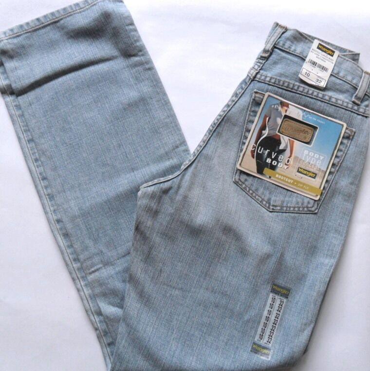 WRANGLER jeans Denim donna ragazza avviocut luce corpo Curve utilizzate Girovita 10