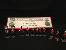 VINTAGE ALL THE QUEENS MEN metal toy soldier BANDS OF BRITISH ARMY W/box