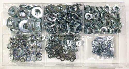 550 Teile Sortiment Unterlegscheiben DIN 125 M3 bis M10 Verzinkt  Profi Qualität