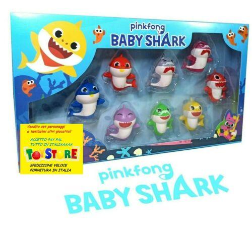 BABY SHARK SET 8 PERSONAGGI PINKFONG ACTION FIGURE NEWS SQUALI DANCE NOVITA NEWS