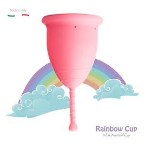 RAINBOWCUP-Coppetta-Mestruale-MADE-IN-ITALY-Scegli-Tonicita-Colore-Taglia
