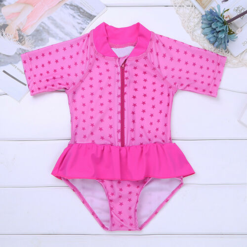 Rash Guard Shirt Swimsuit Baby Girl Bathing Swimming Tankini Beachwear UPF 50
