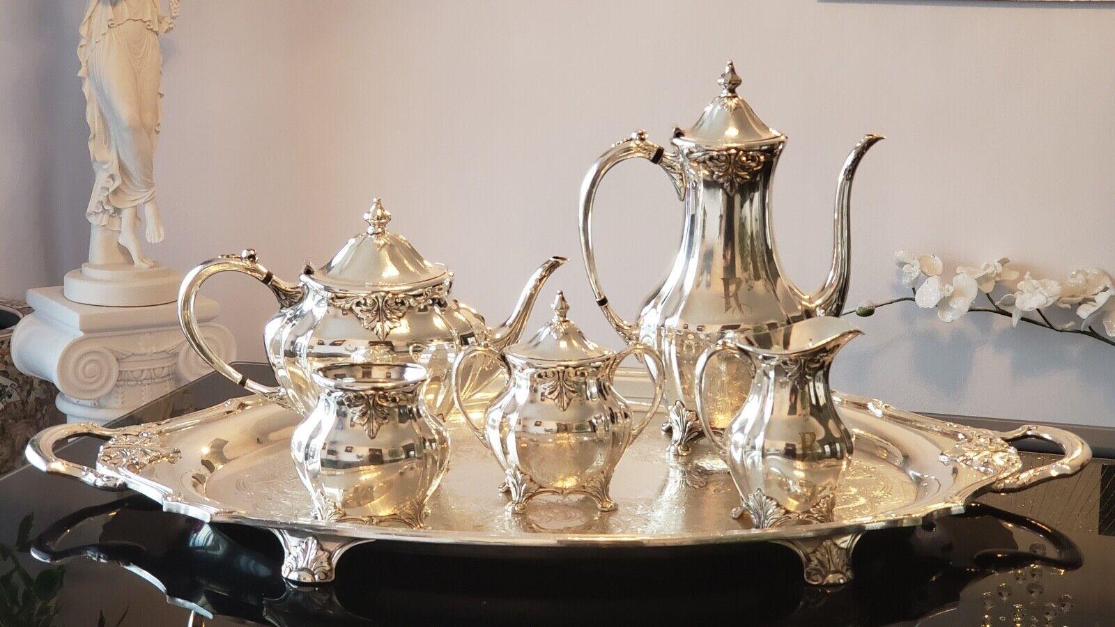 6 piezas Juego de té Chatelaine Oneida Plateado Community Coffee Set