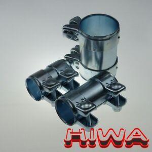 Reparation-connecteur-tube-echappement-pour-76mm-Tuyaux-125-mm-de-long-Galvanise