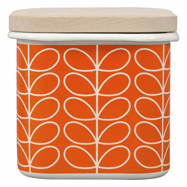 Enamel Storage Jar Linear Stem