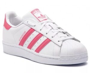 adidas Superstar J White Kids