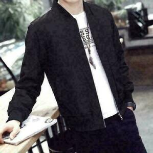 New-Men-039-s-Slim-collar-fashion-jackets-Tops-Casual-coat-outerwear-Casual-Clothing