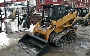 CAT-257B-rubber-tracked-SKIDSTEER-bobcat-SKID-STEER-LOADER-Caterpillar