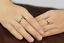 Anello-Coppia-Fedi-Fedine-Fidanzamento-Amicizia-Amore-Cuore-spezzato-Love-Regalo miniatura 5
