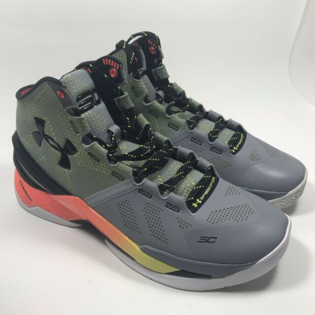 new arrival 44789 f46c8 Under Armour UA Curry 2 Forging Iron Sharpens Iron Warriors 1259007-035  Size 11