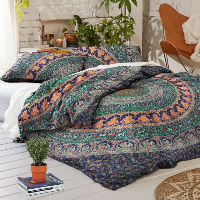 Indian Duvet Doona Cover Comforter Mandala Hippie Bohemian Queen Quilt Cover Set