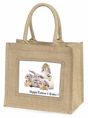 Personalisiert Kaninchen+Küken Große Natürliche Jute-einkaufstasche Christus,