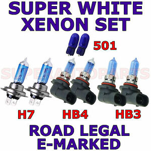 TOYOTA-COROLLA-VERSO-MPV-2002-2004-SET-OF-H7-HB3-HB4-501-XENON-LIGHT-BULBS
