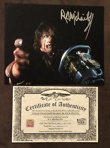 RA Mihailoff Texas Chainsaw Massacre SIGNED 8x10 PHOTO AUTOGRAPH Steel City COA