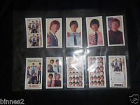 THE BEATLES THE MILLION SELLERS EP WARUS TRADING CARDS FULL SET OF TEN MINT FAB