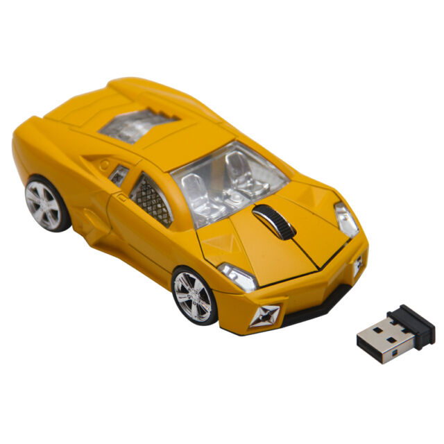 FERRARI SHAPE CAR OPTICAL WIRELESS MOUSE LAPTOP PC COMPUTER
