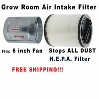 Grow Room Air Filter For 6 Inch Fan - Clean Air With No Shroom Spores Or Dust