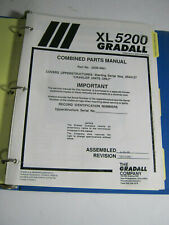 Gradall Xl5200 Crawler Excavator Combined Parts Manual 1998 Clean Catalog