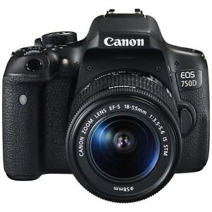 Canon EOS 750D 24.2MP DSLR Camera with EF-S 18-55 IS...