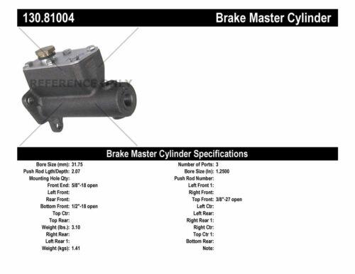 Brake Master Cylinder-Premium Master Cylinder Preferred Centric 130.81004