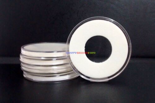 5PCs PCCB High Quality Acrylic Coin Capsules Display Holder Case 22mm Insert