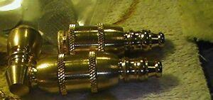 2 shiny LIGHT FIXTURE PARTS/ repair,rebuild WITH 25 faucet FILTERS --B